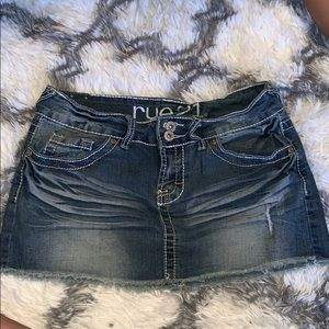 Rue 21 mini jean skirt